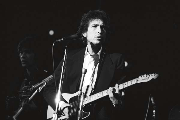 Bob Dylan with The Band, at the Boston Garden a long time ago. Okay, 1974.